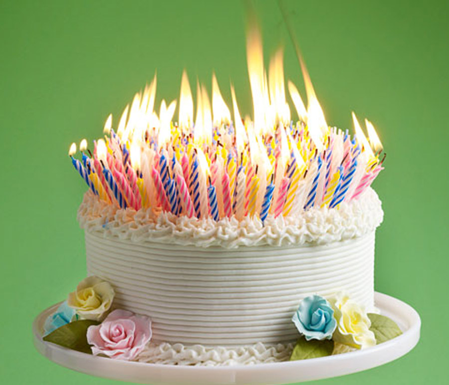 Birthday Cake With Candles 9