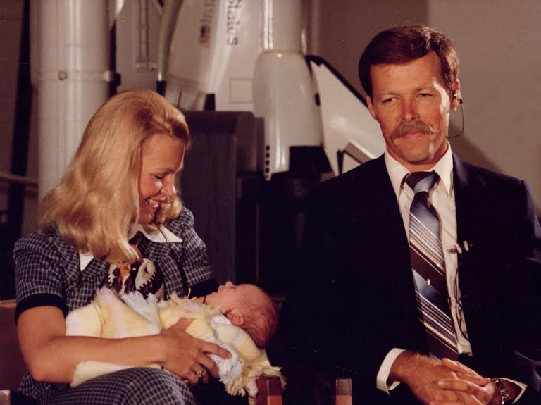 Rhea and Hoot with first-born, Paul Gibson.