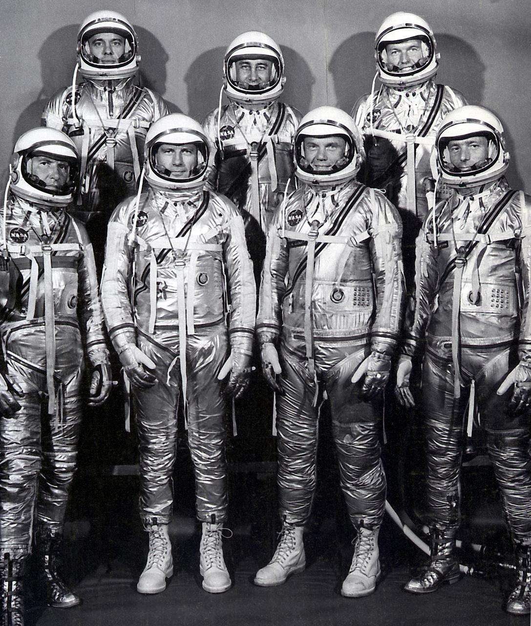 Mercury Astronauts who flew one by one