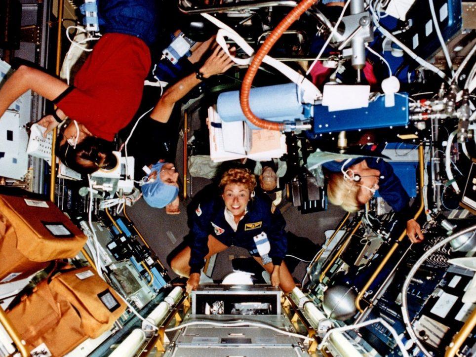 Close quarters in Spacelab